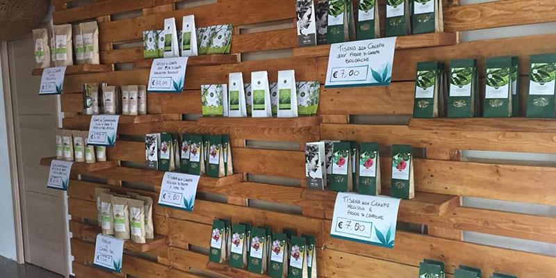 Vendita di prodotti per la saluta alla canapa a Verona
